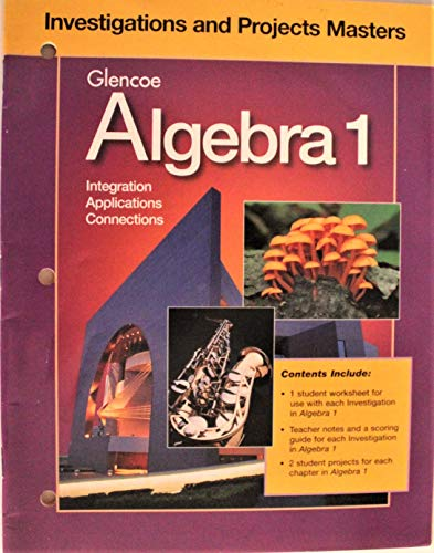 9780028248608: Glencoe Algebra 1: Integration, Applications, Connections - Investigations and Projects Masters