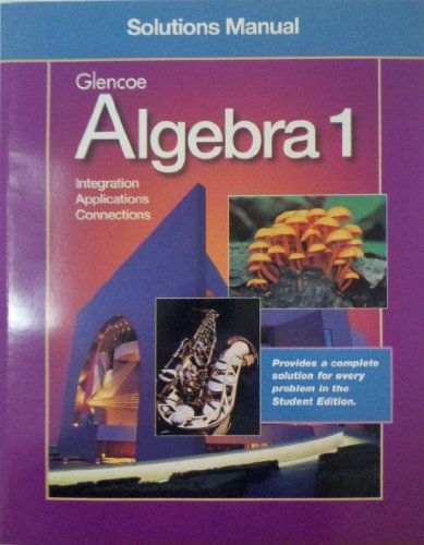 9780028248691: Alegbra 1 Complete Solutions Manual