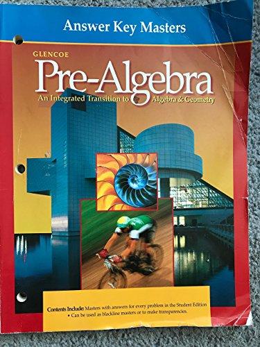 9780028250502: Answer Key Masters (Glencoe Pre-Algebra) (Glencoe Pre-Algebra)