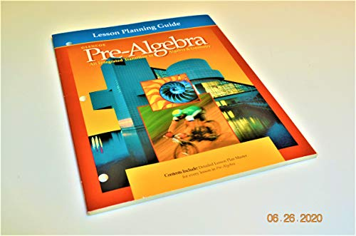 9780028250526: Lesson Planning Guide (Glencoe Pre-Algebra An Integrated Transition to Algebra&Geometry)