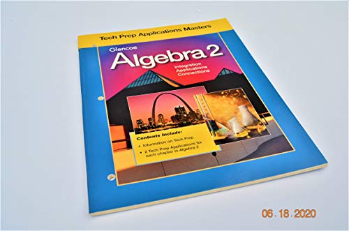 9780028251394: Algebra 2 Tech Prep Applications Masters