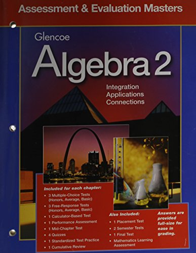 9780028251448: Algebra 2 Assessment and Evaluation Masters
