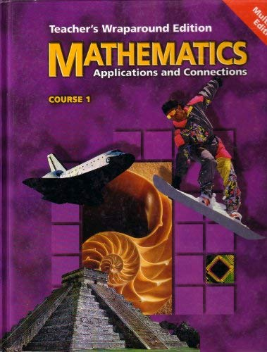 9780028252193: Mathematics Applications and Connections Course 1 Teacher's Wraparound Ed.
