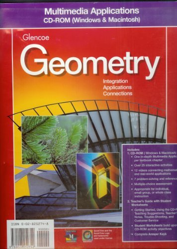 9780028252742: Multimedia Applications CD-ROM (Glencoe Geometry Integration Applications Connections)