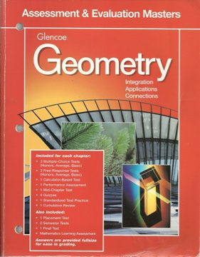 9780028252841: Geometry: Integration, Applications and Connections:Assessment and Evaluation Masters 98