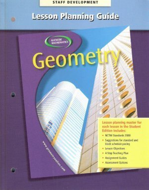9780028252957: Lesson Planning Guide (Glencoe Geometry Integration Application Connections)