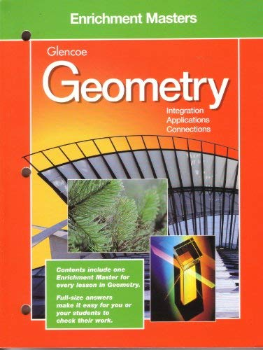 9780028252988: Enrichment Masters Glencoe Geometry Integration, Ap[plications, Connections