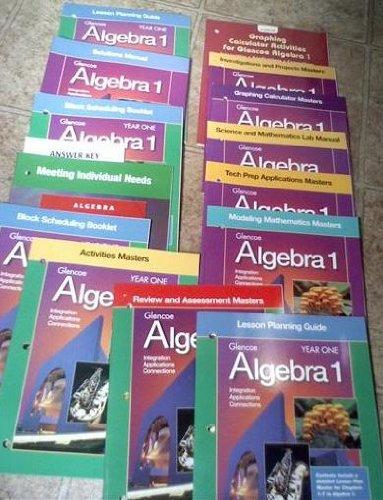Glencoe Algebra 1 in Two Years: Year One: Glencoe/McGraw-Hill