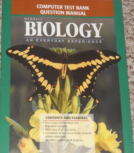 9780028256993: Computer Test Bank Question Manual Merrill Biology