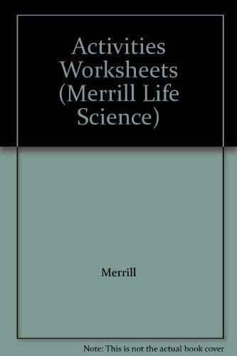 9780028264110: Activities Worksheets (Merrill Life Science)