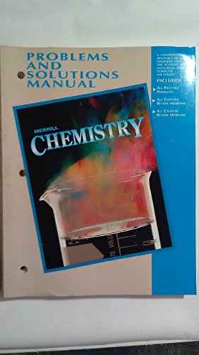 9780028272221: Problems and Solutions Manual (Merrill Chemistry)