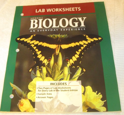 9780028273020: Biology: An Everyday Experience Lab Worksheets