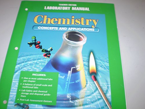 9780028274607: Chemistry: Concepts and Applications Laboratory Manual