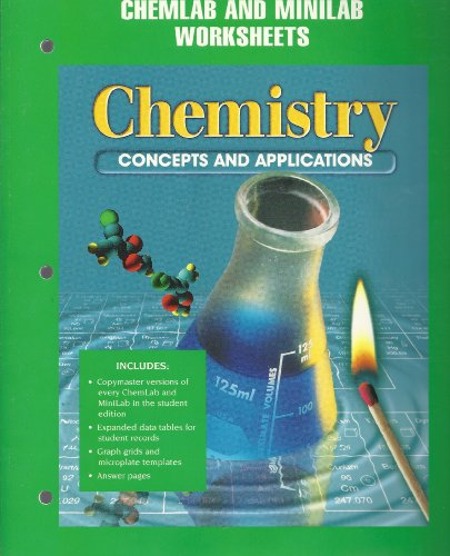 9780028274638: Chemistry: Concepts and Applications Chemlab & Minilab Worksheets