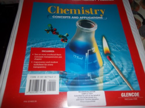 9780028274652: Basic Concepts Transparencies for Use with Chemistry: Concepts & Applications