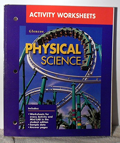 9780028278810: Activity Worksheets: Glencoe Physical Science
