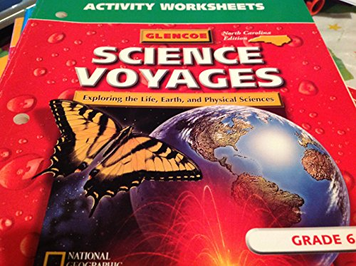 9780028288864: Glencoe Science Voyages Exploring the Life, Earth and Physical Sciences Activity Worksheets 6th Grade