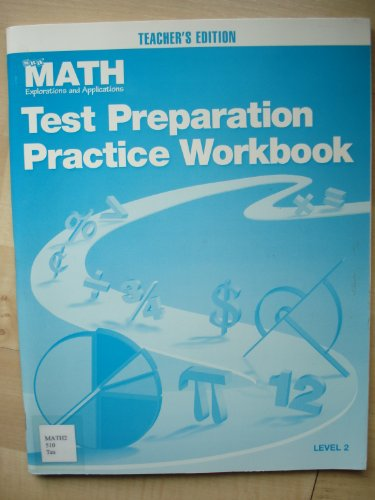 9780028308579: Math Test Preparation Practice Workbook Teacher's Edition ( Level 2 )