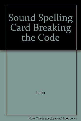 9780028311456: Sound Spelling Card Breaking the Code