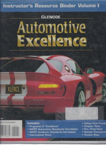 9780028313689: Instructors Resource Binder Volume 1 Glencoe Automotive Excellence