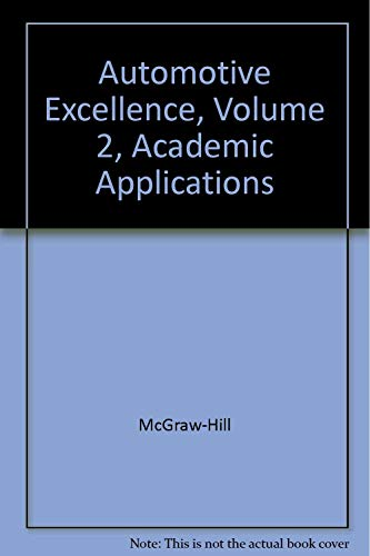 9780028313733: Academic Applications Vol. 2 Automotive Excellence