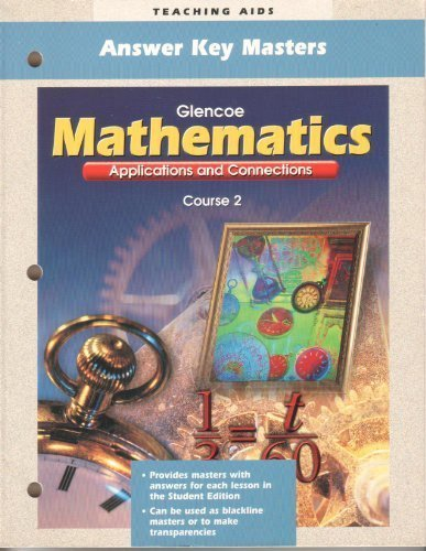 9780028330662: Answer Key Masters (Mathematics Applications and Connections, Course 2)