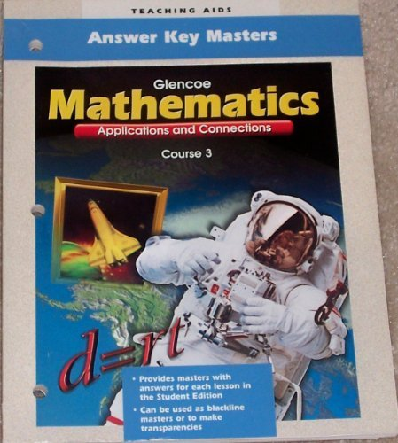 9780028330679: Glencoe Mathematics: Answer Key Masters, Course 3