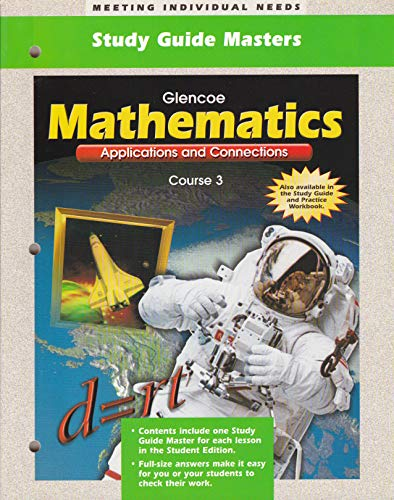 9780028331072: Glencoe Mathematics Applications and Connections- Study Guide Masters (Course 3)