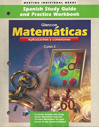 9780028337753: Matematicas: Aplicaciones Y Conexiones, Curso 2/Mathematics, Spanish Study Guide and Practice Workbook