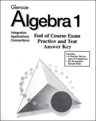 9780028338583: Algebra 1: End-of-Course Exam Practice Answer Key