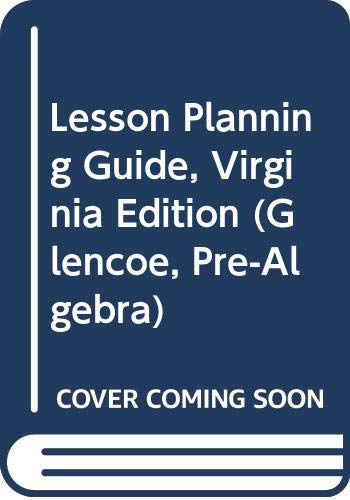 9780028338903: Lesson Planning Guide, Virginia Edition (Glencoe, Pre-Algebra)