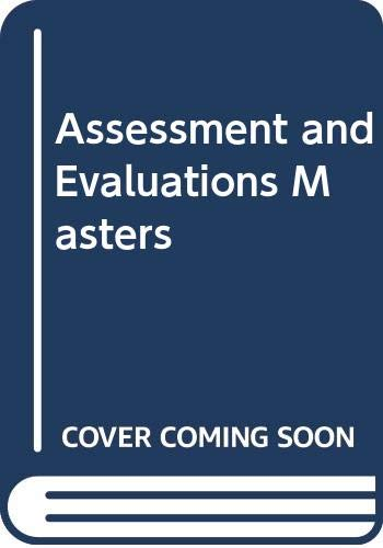 9780028341798: Assessment and Evaluations Masters