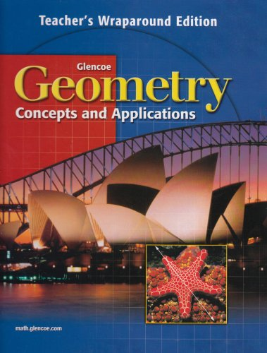 9780028348186: Geometry Concepts and Applications Teacher's Wraparound Edition