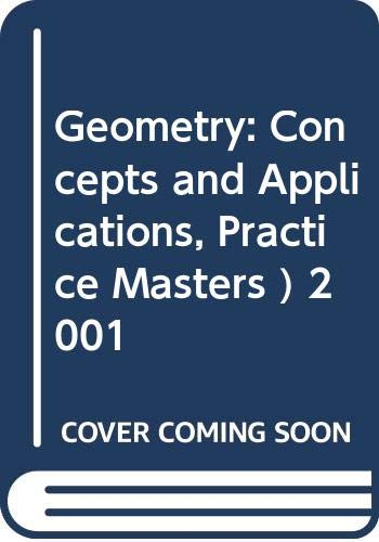 9780028348223: Geometry: Concepts and Applications, Practice Masters ) 2001