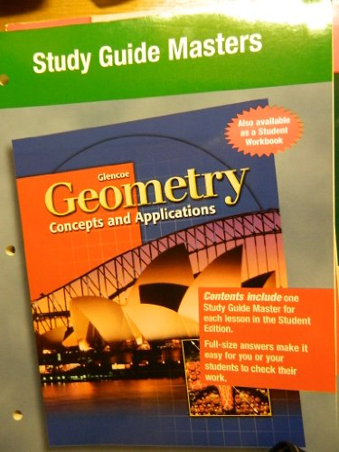 9780028348254: Geometry: Concepts and Applications, Study Guide Masters