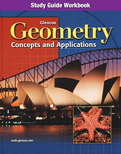 9780028348261: Geometry: Concepts and Applications, Study Guide Workbook