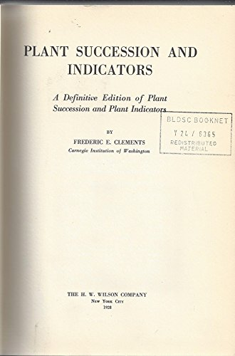9780028429601: Plant Succession and Indicators