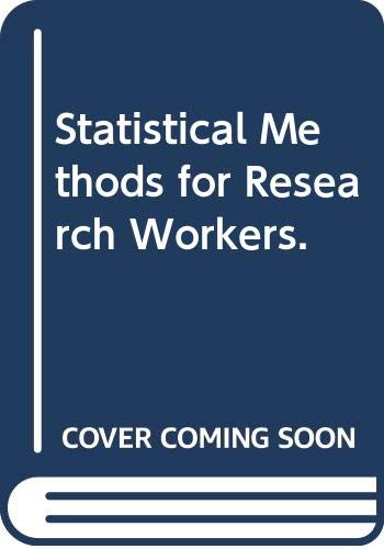 9780028447308: Statistical Methods for Research Workers.