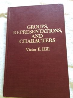 9780028467900: Groups, Representations and Characters