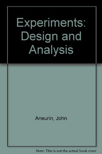9780028472300: Experiments: Design and Analysis