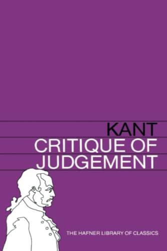 9780028475004: Critique of Judgement (Hafner Library of Classics)