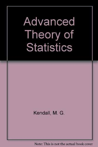 9780028476407: Advanced Theory of Statistics, Vol. 3
