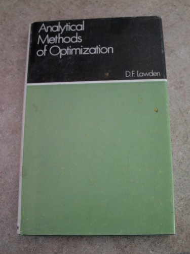 9780028483801: Analytical methods of optimization (Texts in mathematics)