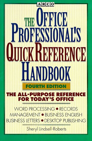 9780028600277: Office Professional's Quick Reference Handbook (Webster's New World Office Professional's Desk Reference)