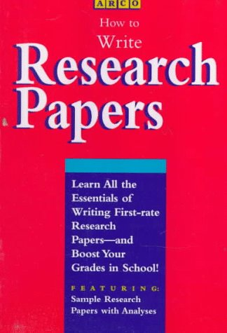 9780028603087: HOW TO WRITE A RESEARCH PAPER 95C