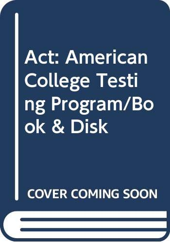 9780028603124: Act: American College Testing Program/Book & Disk (Arco Master the ACT Assessment (W/CD))