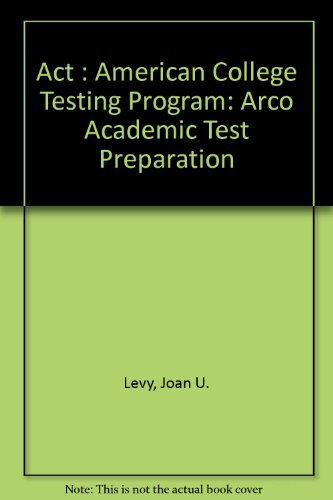 9780028603223: Act: American College Testing Program (Arco Academic Test Preparation)