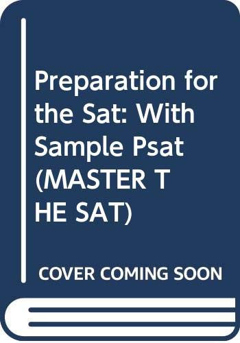 9780028603230: Preparation for the Sat: With Sample Psat (Master the Sat)
