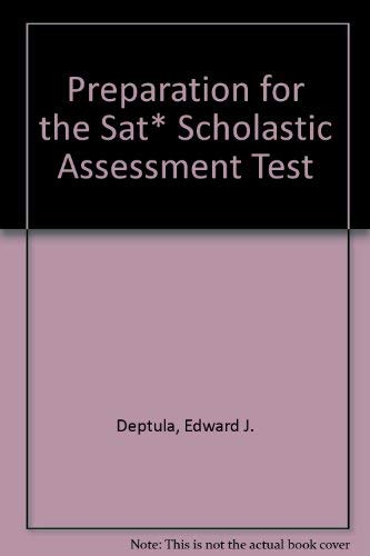 9780028603247: Preparation for the Sat and Psat/Book and Disk