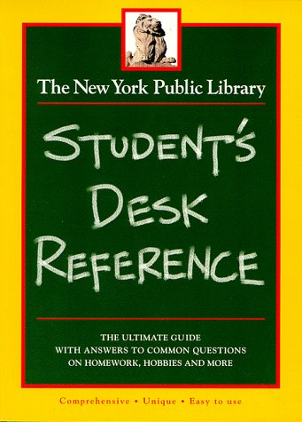 9780028604183: The New York Public Library Student's Desk Reference